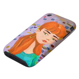 Beautiful Bella İllustration casemate iPhone 3 Tough Case