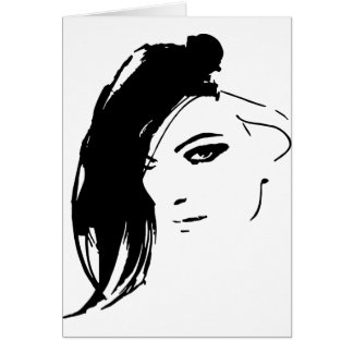 Beautiful Belle Model Face Card