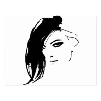 Beautiful Belle Model Face Postcard