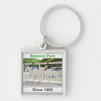 Beautiful Belmont Park Horse Art Keychain