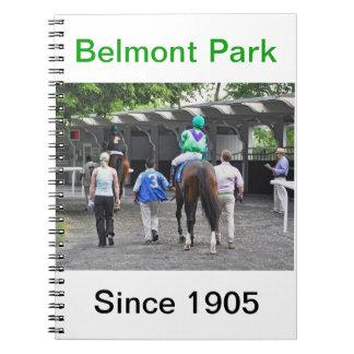 Beautiful Belmont Park Horse Art Notebook