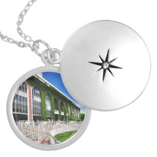 Beautiful Belmont Park Silver Plated Necklace