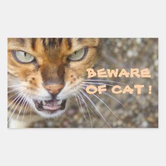 Beautiful Bengal Cat Rectangle Sticker