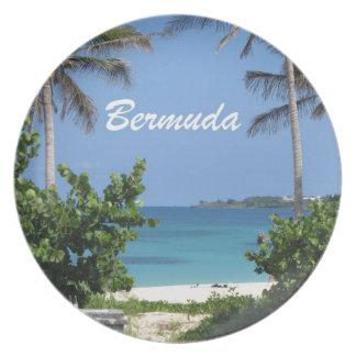 Beautiful Bermuda! Melamine Plate