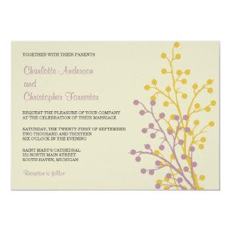 "Beautiful Berries Custom Wedding Invitations 5"" X 7"" Invitation Card"