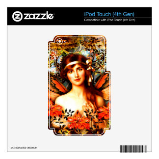 Beautiful Best Selling Fairy Art Decals For iPod Touch 4G
