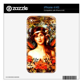 Beautiful Best Selling Fairy Art Skin For The iPhone 4