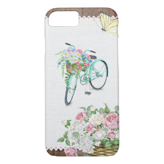 Beautiful Bicycle with Flower Basket Case
