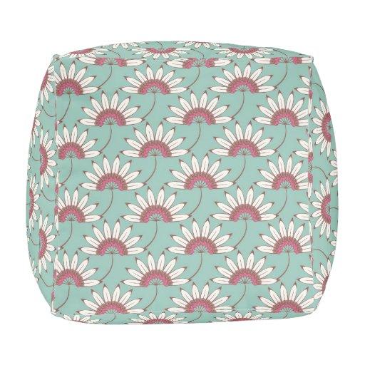 Beautiful Big Bold Modern Floral Pattern Pouf Zazzle