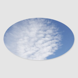 Beautiful, big  cloud oval sticker