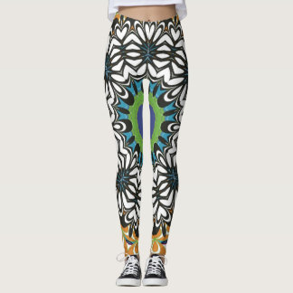 Beautiful Big Flower Design Custom Leggings