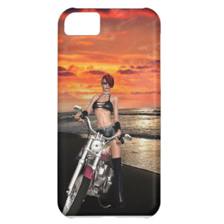 Beautiful Biker By The Sea iPhone 5C Cover