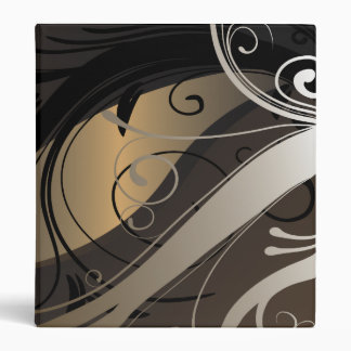 Beautiful Binder with Swirls