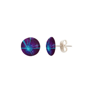 Beautiful Bioluminescent Sea Anemone FractalFlower Earrings