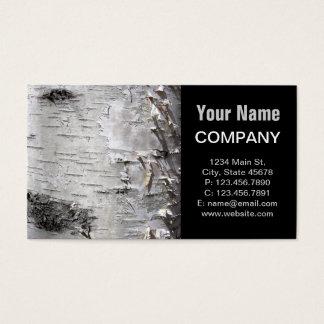 Beautiful birch bark business card