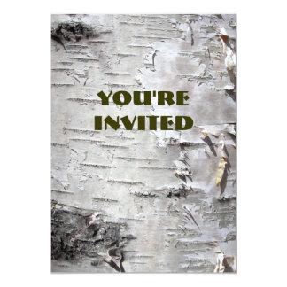 Beautiful birch bark invitations