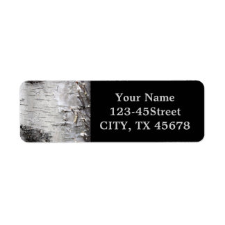 Beautiful birch bark label