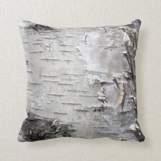 Beautiful birch bark throw pillow