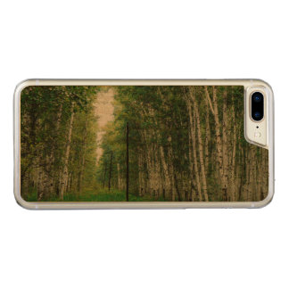 Beautiful Birch Tree Forest Carved iPhone 8 Plus/7 Plus Case