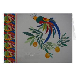 """Beautiful Bird In The Trees w/Border"""" Card"""