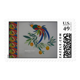 """""""Beautiful Bird In The Trees w/Border"""" Stamps"""