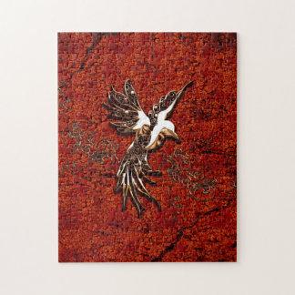 Beautiful bird made of swirls jigsaw puzzle