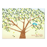 Beautiful Bird Tree Save the Date Personalized Announcements