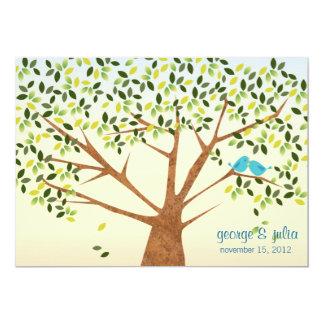 Beautiful Bird Tree Wedding Invitation