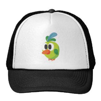 beautiful bird walking trucker hat