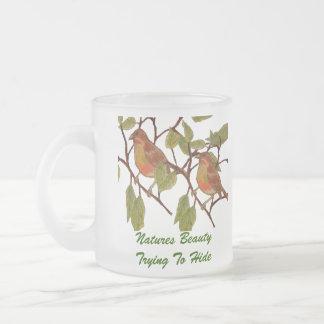 Beautiful Birdie 10 Oz Frosted Glass Coffee Mug