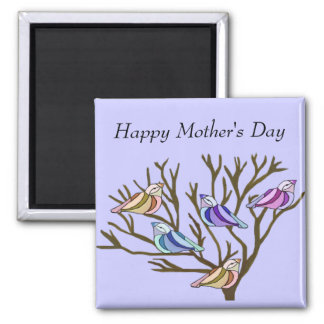 Beautiful birds Mother's Day 2 Inch Square Magnet