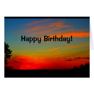 Beautiful Birthday From Sunrise To Sunset Card
