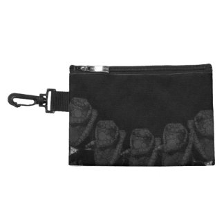 Beautiful Black Abstract Roses Accessory Bag