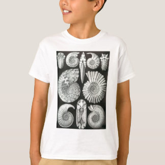 Beautiful black and white ammonites pattern design T-Shirt