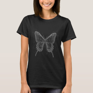 Beautiful Black and White Butterfly design T-Shirt
