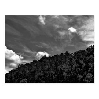 Beautiful Black and White Cloud Nature Sky Photo Postcard