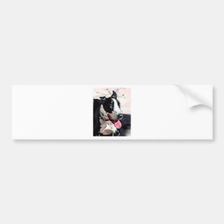 Beautiful Black and White Dog Bumper Sticker