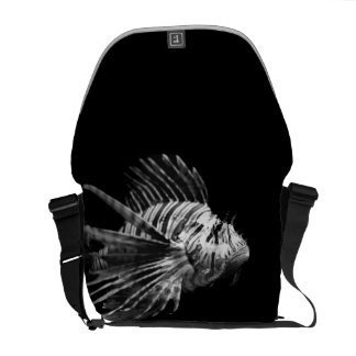 Beautiful Black and White Lionfish Courier Bag