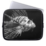 Beautiful Black and White Lionfish Computer Sleeves