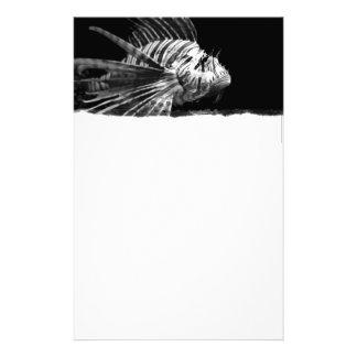 Beautiful Black and White Lionfish Stationery
