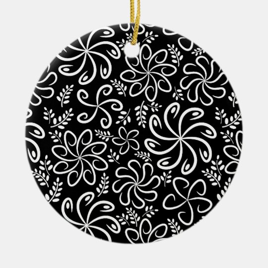 Beautiful black and white Ornament