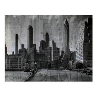 Beautiful Black and White Photo Vintage NYC Postcard