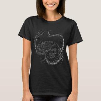 Beautiful Black and White Shell design T-Shirt