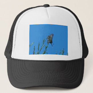 Beautiful Black And White Swallowtail Butterfly Trucker Hat