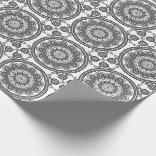 Talavera Wrapping Paper Zazzle - Black and white talavera tile