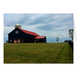 Beautiful Black Barn Greeting Card