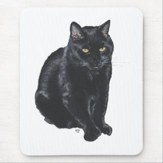 Beautiful Black Cat Mouse Pad