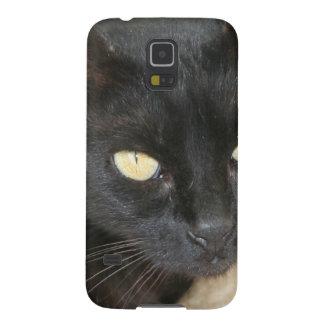 Beautiful Black Cat Portrait Galaxy S5 Cover