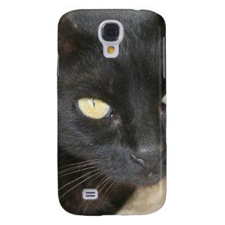 Beautiful Black Cat Portrait Samsung Galaxy S4 Cover