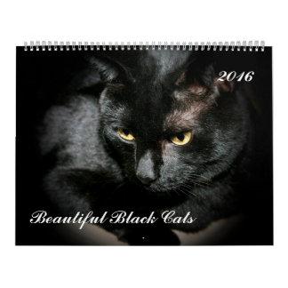 BEAUTIFUL BLACK CATS 2016 CALENDAR